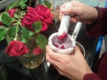 Dr. Aurore's home-made rose water!